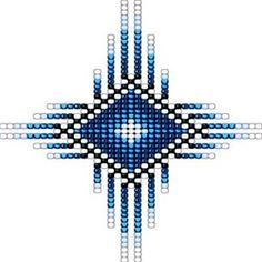 Native Style Blue Radiant Sun