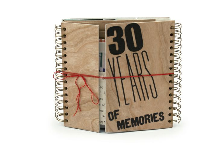 I love Ali's idea to create a 30th birthday present for her husband filled with 30 memories. All she needed was a We R Memory Keepers cinch tool and some creativity!
