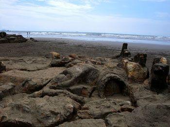 Pantai Air Manis, Sumatera barat - Indonesia | Pantai yang dimana terdapat cerita legenda Malin Kundang.