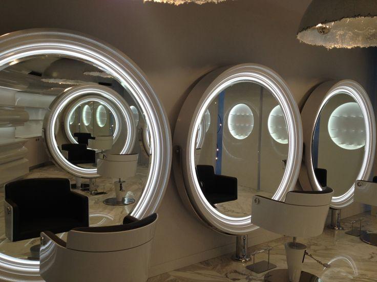The Kingdom of Beauty - Aldo Coppola - Nabucco Led styling stations, Aida styling chairs