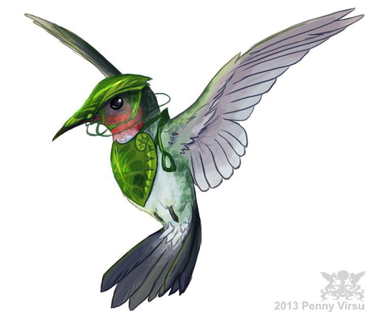 Epic movie hummingbird drawing.  Leafmen's hummingbird by Penny-Dragon.deviantart.com on @deviantART
