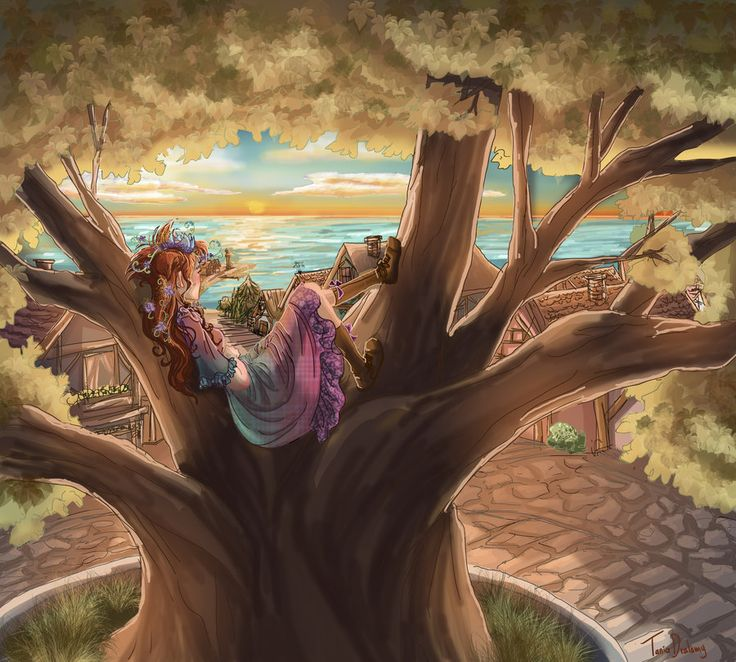 Sunset in Fairy Oak, Vanilla by Dralamy.deviantart.com on @deviantART