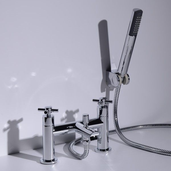 A bath shower mixer with crosshead handles for operation. Comes complete with shower kit & wall bracket.    View This Product's Installation Instructions