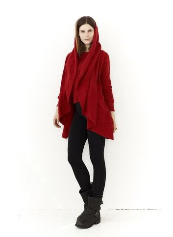 Little Red Riding Hood Cardi - the most epic and insane cardi you will find; like a blanket. You'll live in it.