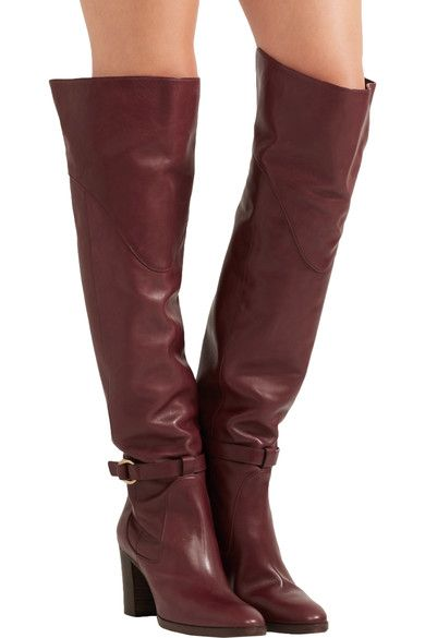 Chloé - Leather Over-the-knee Boots - SALE20 at Checkout for an extra 20% off