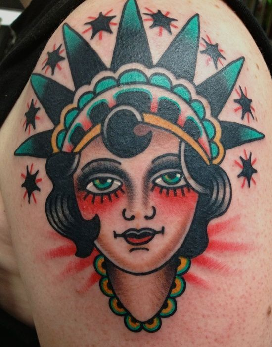 statue of liberty tattoo (22)