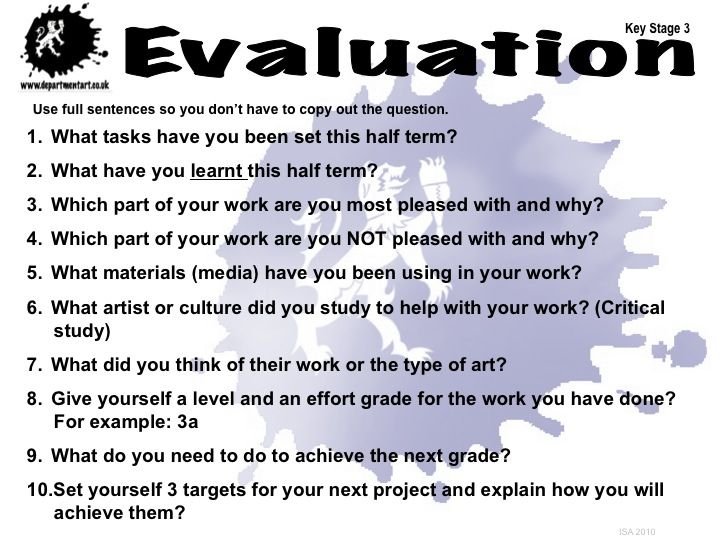 KS3 Evaluation