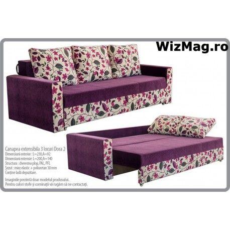 Canapea extensibila Dora cu 3 locuri WIZ 012