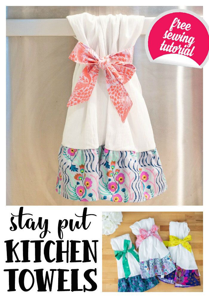 Stay Put Kitchen Towels They Don T Slip Off Free Sewing