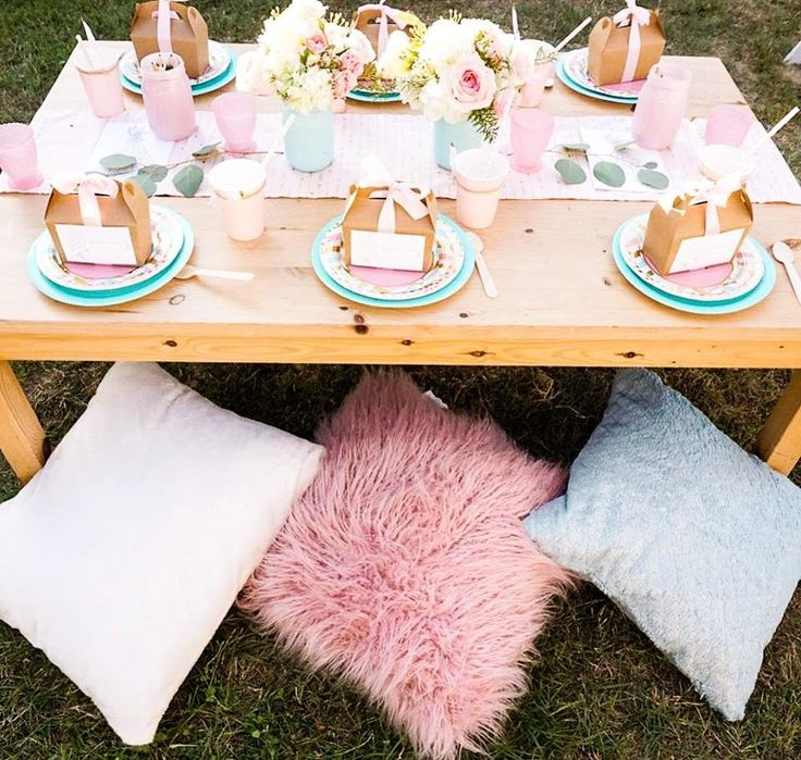 Backyard girls party
