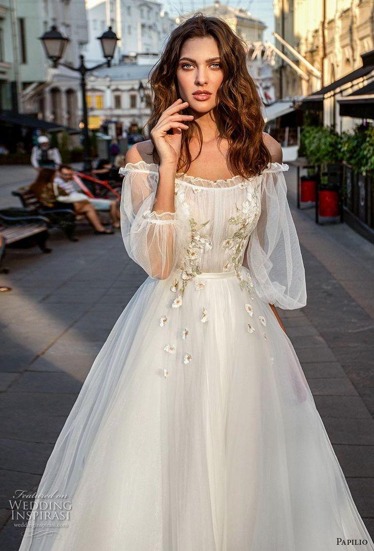 Weddinginspirasi.com mettant en vedette – papilio 2019 manches longues de mariée d'évêque …