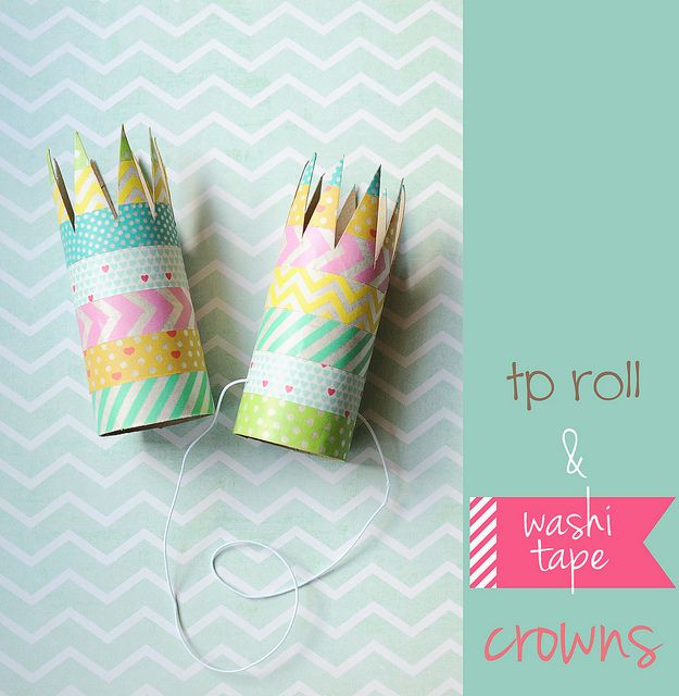 TP roll and washi tape crowns