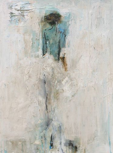 "Felice Sharp, Silvan Dancer In White 30""x40"" mixed media on canvas"