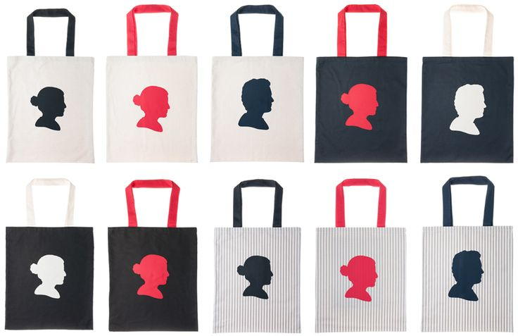 Our customized, handmade, organic cotton tote bags.