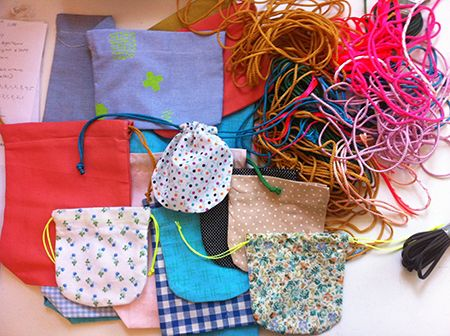 Beci Orpin pull string pouches