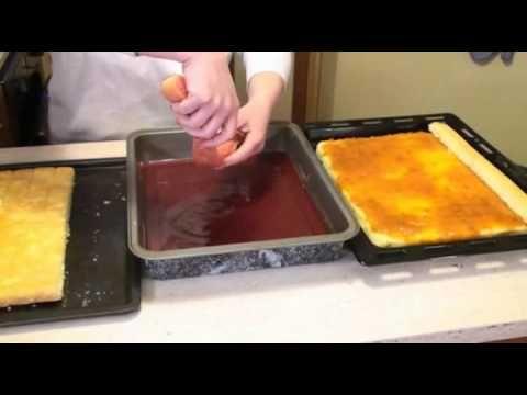 Punčové rezy - recept na punčový koláč - VIDEO Ako sa to robí.sk