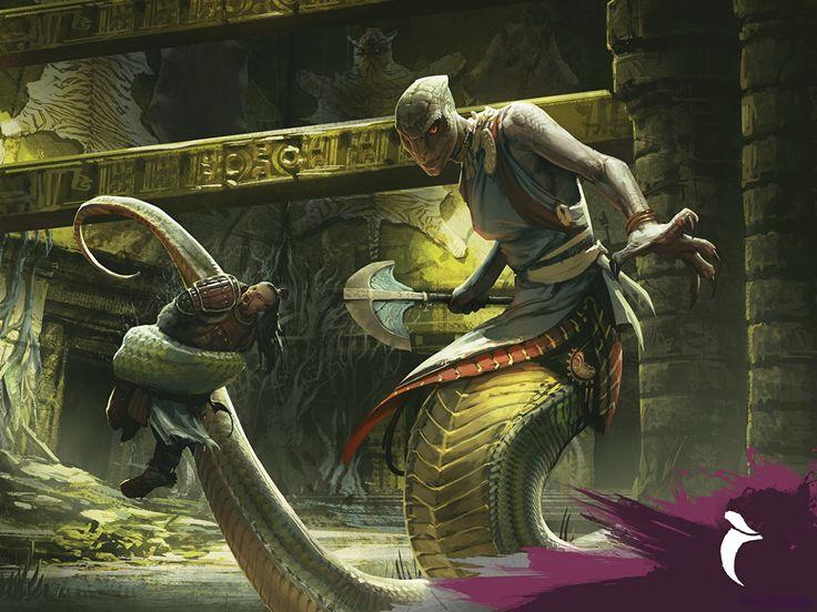 Fotos Magic: The Gathering Sultai Flayer, Naga Shaman Blumen Spiele Supernatural Wesen