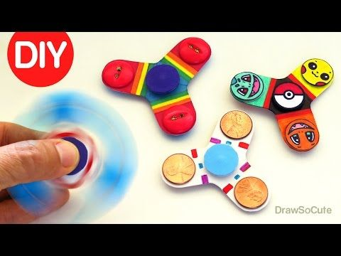 Easy Fidget Spinner WITHOUT Bearings TEMPLATE - How to make a Tri Fidget Spinner DIY - YouTube