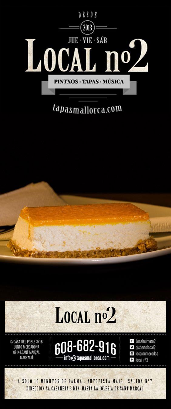 postre / Nachtisch / dessert / Nachspeise / mango / Mango - Kuchen Törtchen / de local n°2 / local2 / localnumero2 / localnumerodos / Marratxí / Mallorca / info@tapasmallorca.com … 608-682916