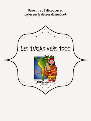 Lapbook : Les Incas vers 1500