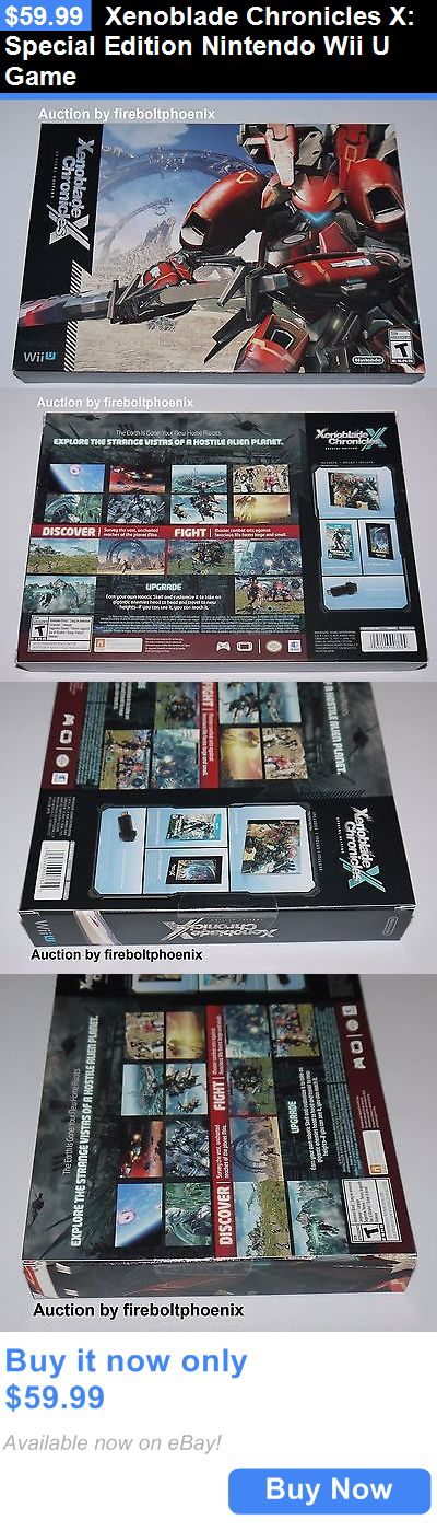 Video Gaming: Xenoblade Chronicles X: Special Edition Nintendo Wii U Game BUY IT NOW ONLY: $59.99