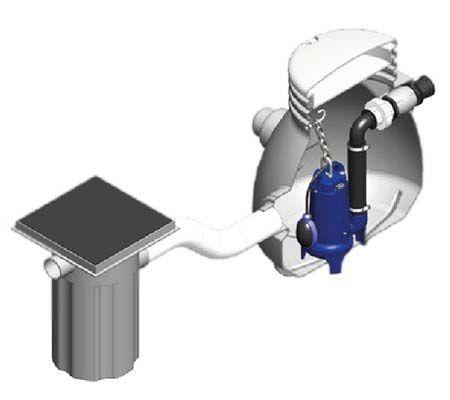Sistema compacto de bombeamento de esgoto