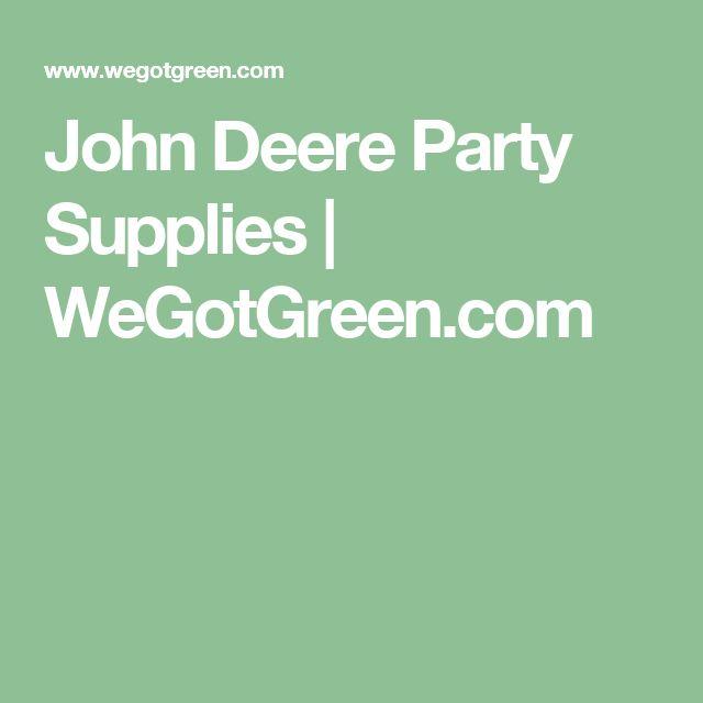John Deere Party Supplies   WeGotGreen.com