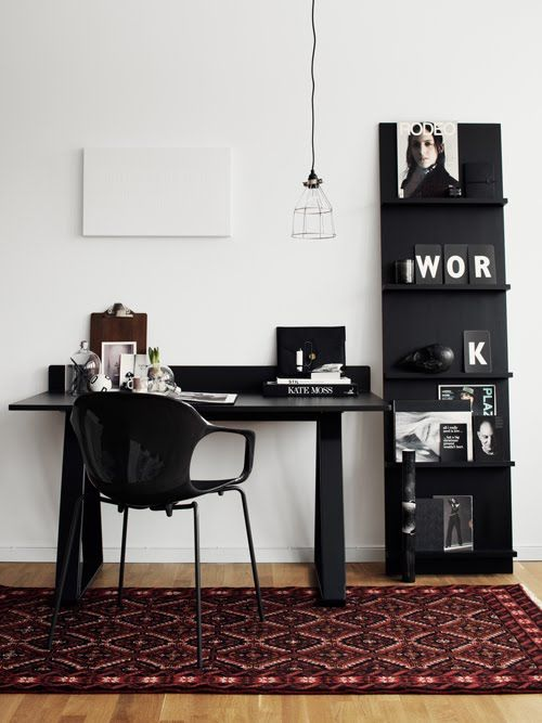 La maison d'Anna G.: Un bureau en blanc... ou noir