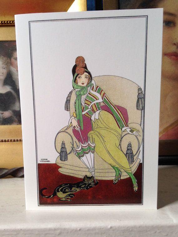 Lili Elbe A Danish Girl Beautiful Art Deco Greeting Card Vintage Repro -  Gerda Gottlieb Wegener - Transgender Pioneer - Eddie Redmayne