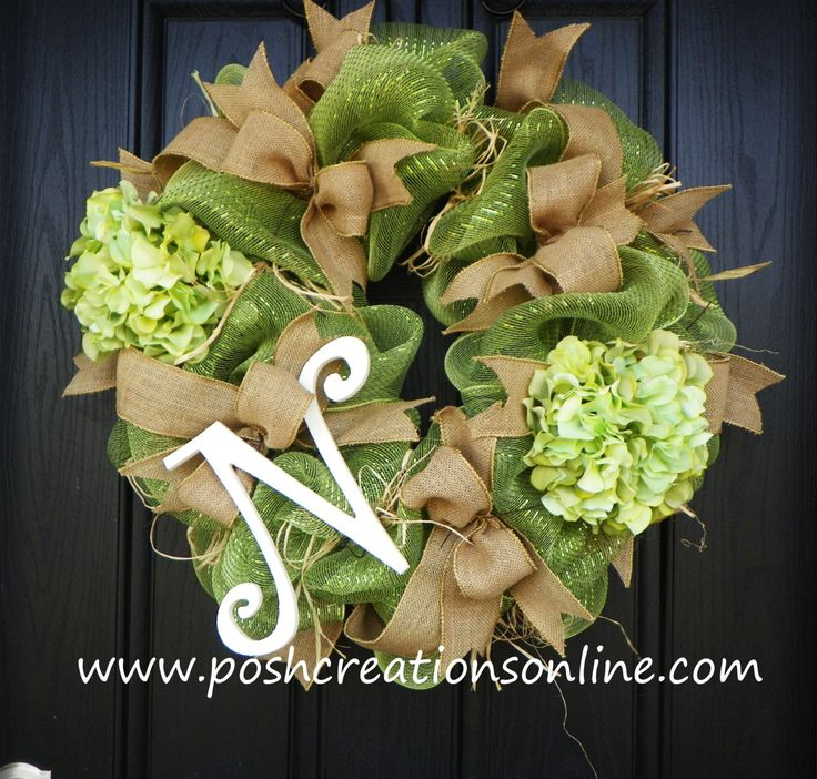 how to make a mesh burlap wreath - Google Search