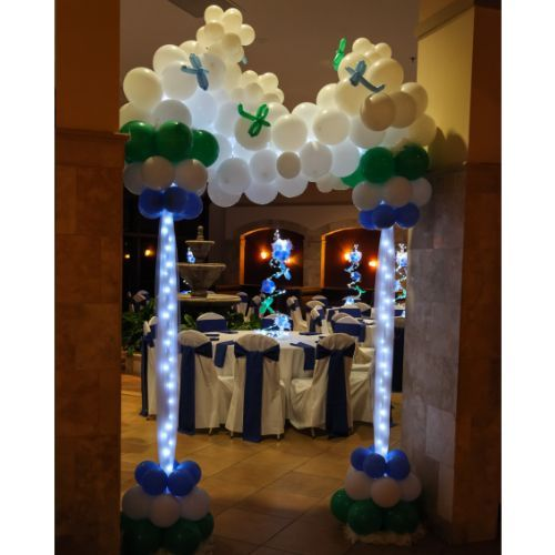 11 best images about balloon arches on pinterest balloon for Airplane baby shower decoration ideas