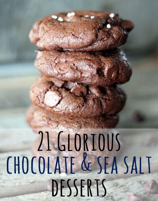 21 Magical Chocolate & Sea Salt Desserts