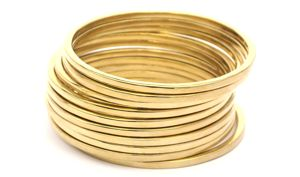 Bangalore Bangles - sterling silver and 14kt gold plated www.katemccoy.com