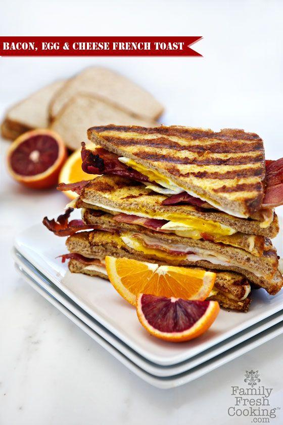 Bacon, Egg & Cheese French Toast | FamilyFreshCooking.com