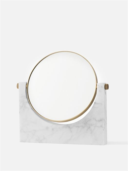 Aesence | Minimal Object Design | White Marble Mirror by Studio Pepe for Menu | Simplicity & Minimalism || This is an affiliate link