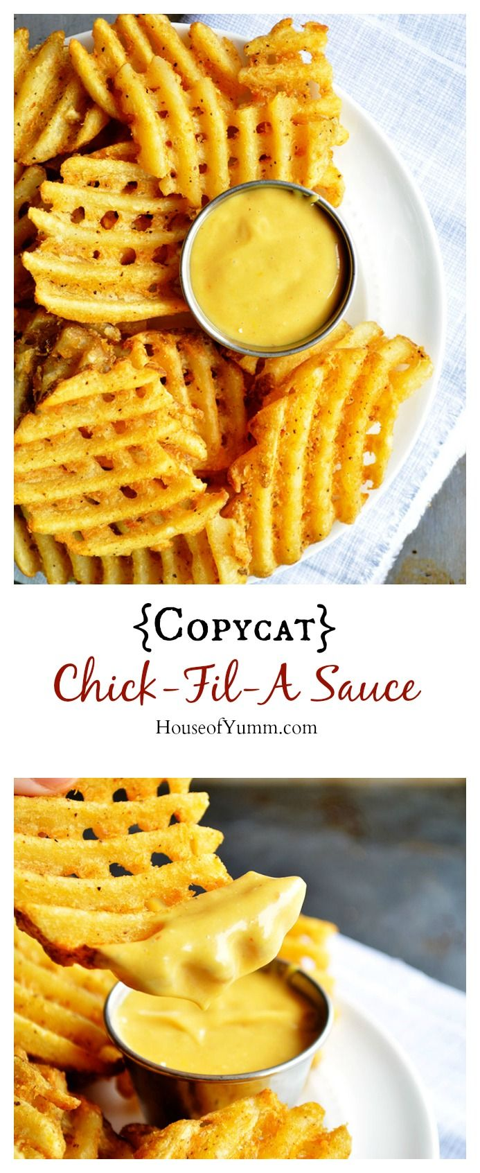 {Copycat} Chick-Fil-A Sauce _ I just want to swim in this stuff! This sauce is an absolute must!!!