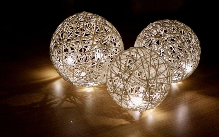 Des boules lumineuses en ficelle pour votre déco Noel