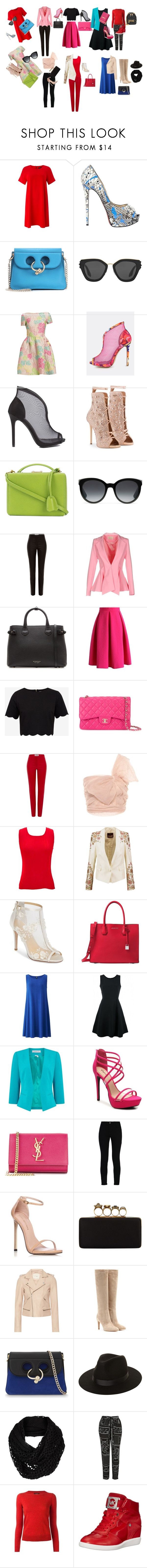"""""""9 sets to get"""" by stracyolivier on Polyvore featuring Phase Eight, Christian Louboutin, J.W. Anderson, Prada, Giuseppe Zanotti, Mark Cross, Gucci, Loewe, L'Atelier and Burberry"""
