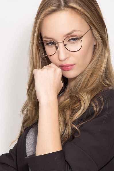 daydream brown golden metal eyeglasses from eyebuydirect exceptional style quality and price with these glasses - Womens Metal Eyeglass Frames