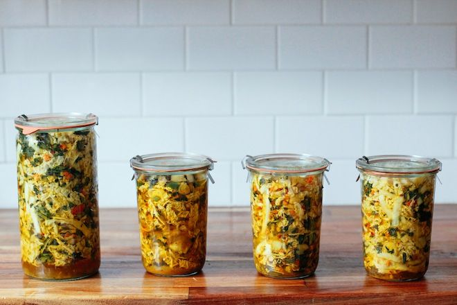 The Ultimate Kimchi is a how-to guide on making your own fermented vegetables in the form of a spicy and probiotic rich kim chi using all vegan ingredients.