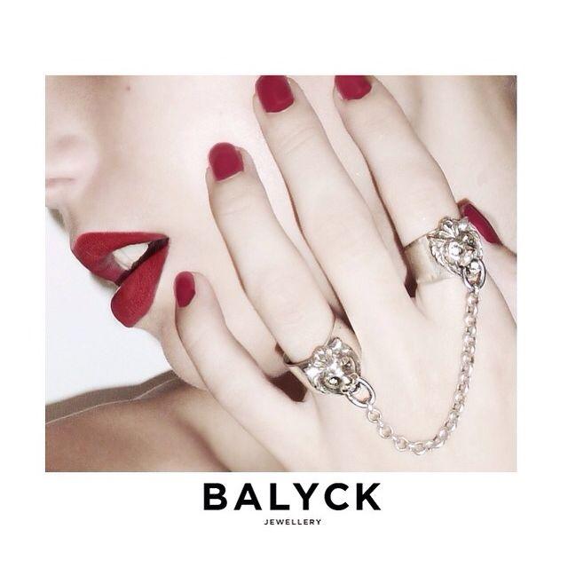 Balyck linked lion rings #jewellery #designer #rings #lions