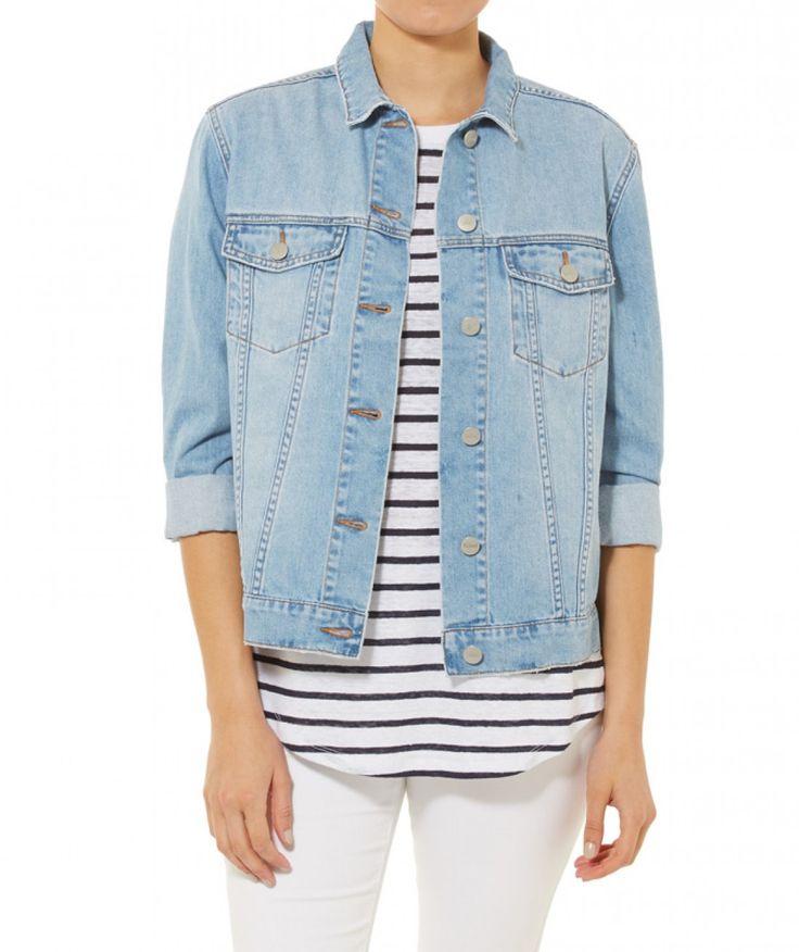 California Dreaming - Oversized Denim Jacket - Clothing - Sportsgirl