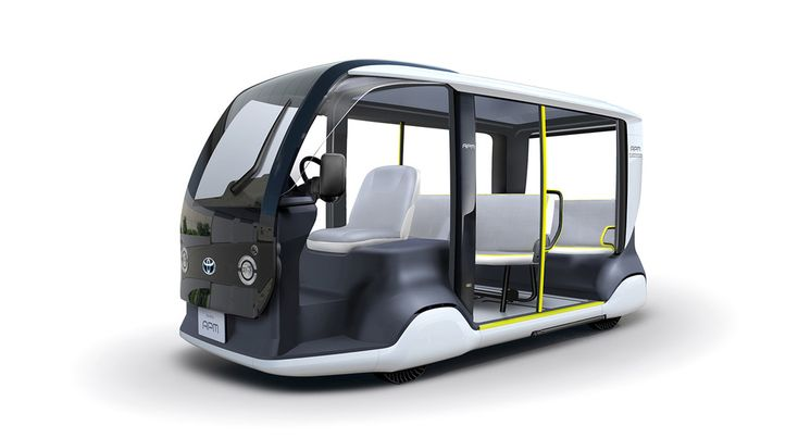 This small electric vehicle is Toyota's shuttle for the Tokyo 2020 Olympics