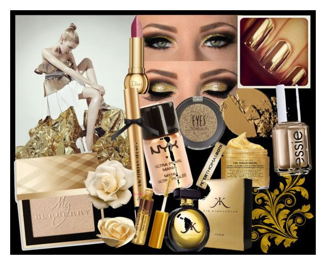 """""""Golden Era"""" by ibuperi on Polyvore featuring beauty, Topshop, NYX, Peter Thomas Roth, Burberry, Essie, Christian Dior and Victoria's Secret"""