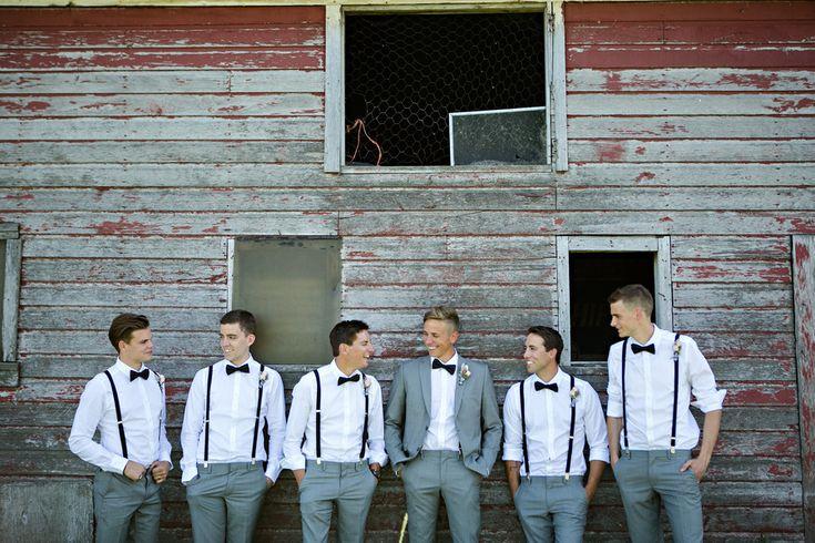 Men! Photography: Moore Photography - moorephotography.ca  Read More: http://www.stylemepretty.com/canada-weddings/2014/11/20/vintage-glam-winnipeg-wedding/
