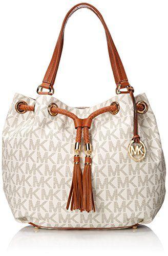 Michael Kors Handbag Jet Set Item Large Signature Tote Vanilla