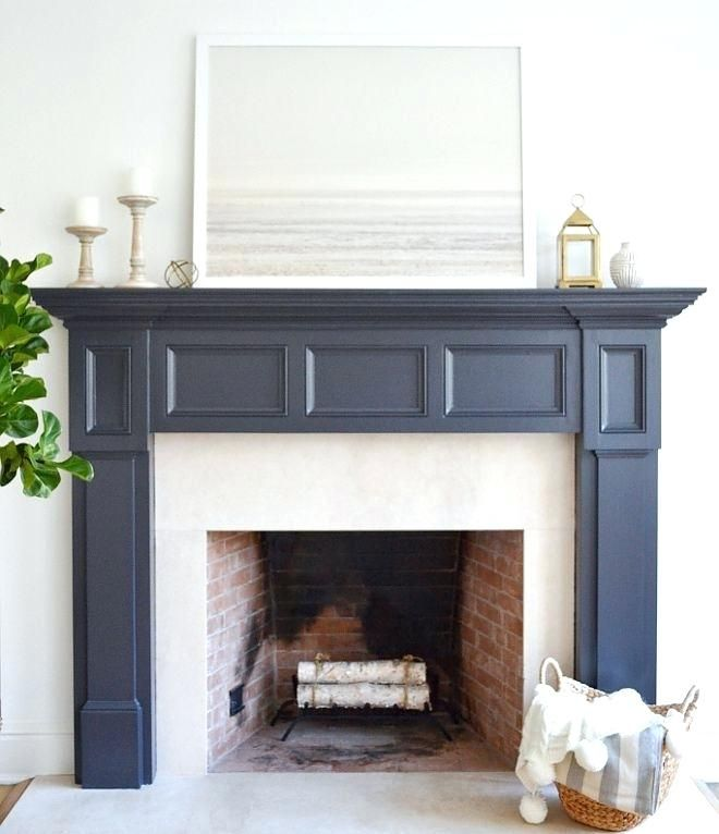 The 25+ Best Painted Fireplace Mantels Ideas On Pinterest
