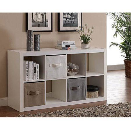 Square 4-Cube Home Cubicle Cubeical Cubby Storage Display Organizer Unit