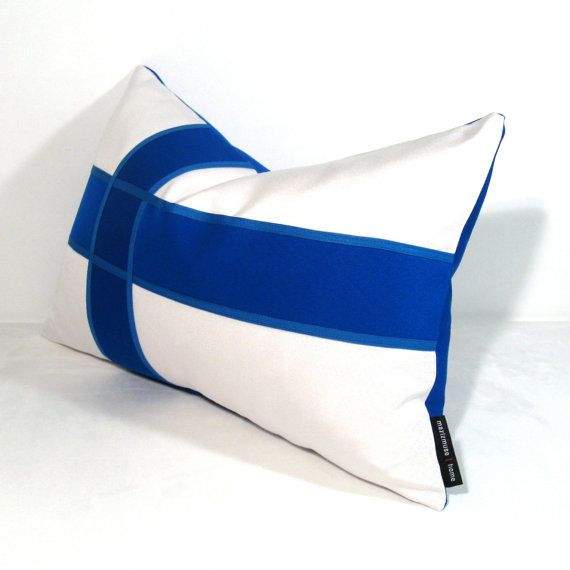 Finland Flag Pillow Cover Outdoor Cushion by Mazizmuse on Etsy