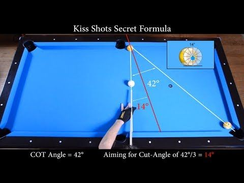 Kiss Shots Secret Formula Revealed - Aiming Angle Fraction System - Pool & Billiard training lesson - YouTube
